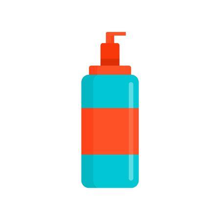 Wash dispenser gel icon, flat style