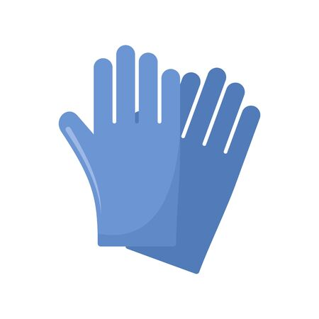 Rubber gloves icon, flat style Illustration