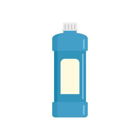 Whiteness bottle icon, flat style