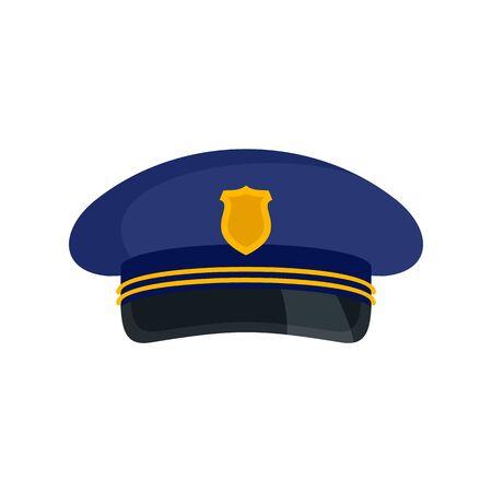 Postman cap icon, flat style Ilustracja