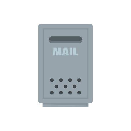 Outdoor mail box icon, flat style Çizim