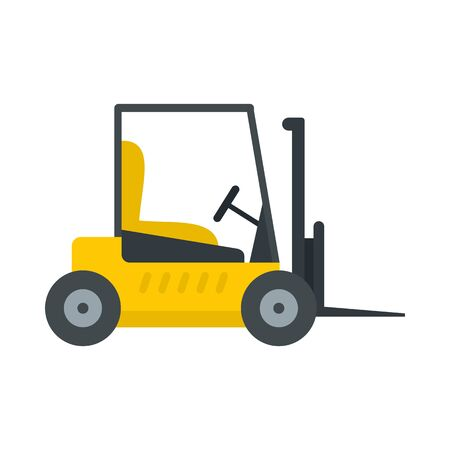 Forklift icon, flat style