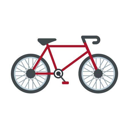 Delivery bike icon, flat style Stock Illustratie