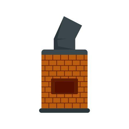Bread brick oven icon. Flat illustration of bread brick oven vector icon for web design