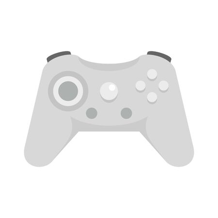 Wireless controller icon, flat style Ilustracja