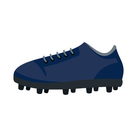 American football shoes icon, flat style