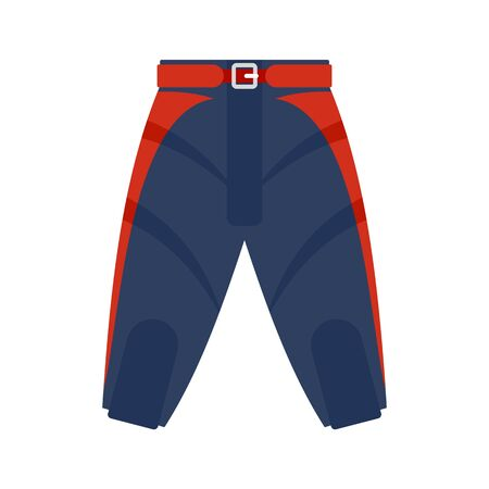 American football shorts icon, flat style