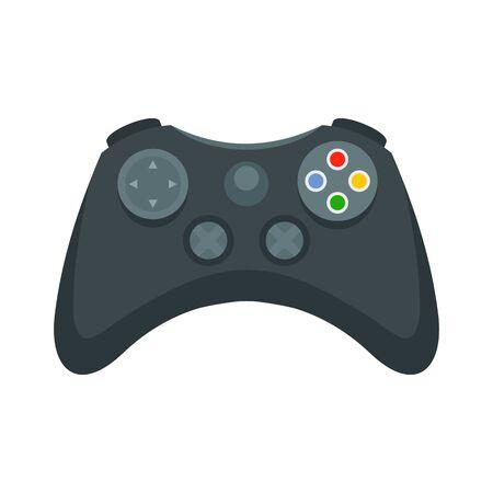 Icono de gamepad de entretenimiento, estilo plano Ilustración de vector
