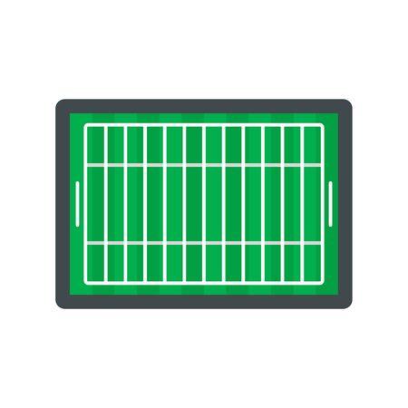 American football field icon, flat style Illustration
