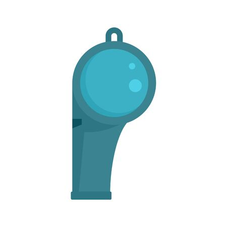 Lifeguard whistle icon, flat style Vectores