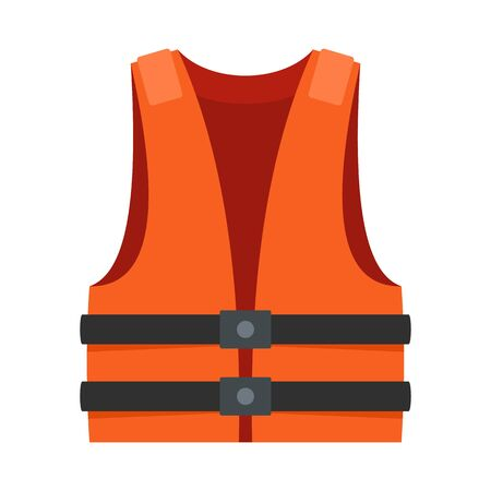 Lifeguard vest icon. Flat illustration of lifeguard vest vector icon for web design