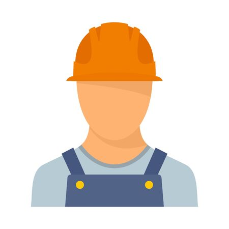 Port cargo worker icon. Flat illustration of port cargo worker vector icon for web design