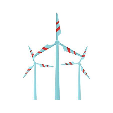 Wind turbine station icon. Flat illustration of wind turbine station vector icon for web design  イラスト・ベクター素材