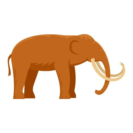 Stone age elephant icon. Flat illustration of stone age elephant vector icon for web design