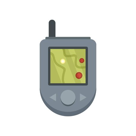 Gps device icon. Flat illustration of gps device vector icon for web design 일러스트