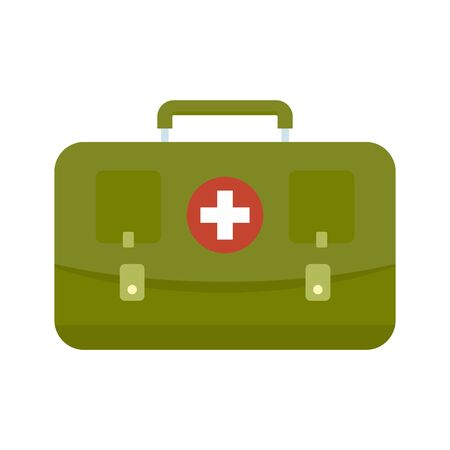 Hunting first aid kit icon. Flat illustration of hunting first aid kit vector icon for web design