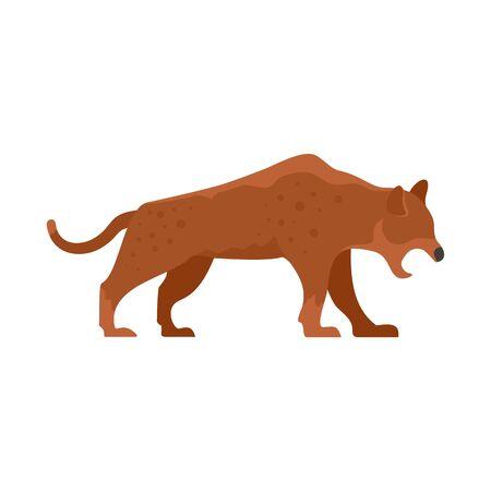 Stone age jaguar icon. Flat illustration of stone age jaguar vector icon for web design Foto de archivo - 131485038