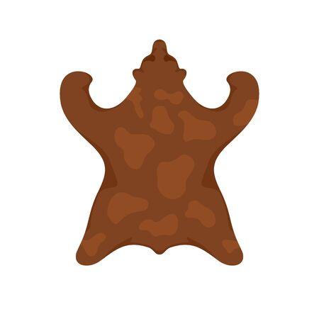 Stone age bear fur icon. Flat illustration of stone age bear fur vector icon for web design 向量圖像