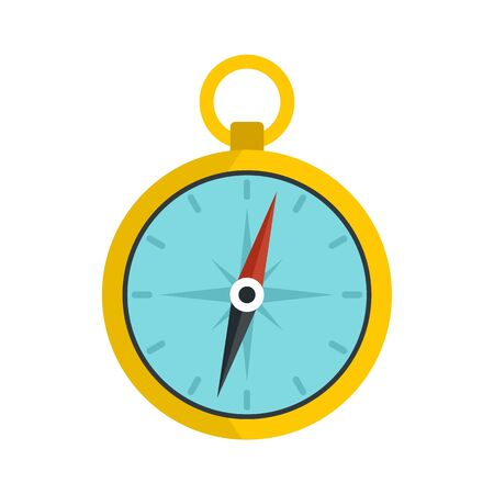 Metal compass icon. Flat illustration of metal compass vector icon for web design 일러스트