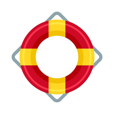Life buoy icon. Flat illustration of life buoy vector icon for web design