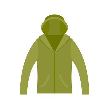 Hunting jacket icon. Flat illustration of hunting jacket vector icon for web design