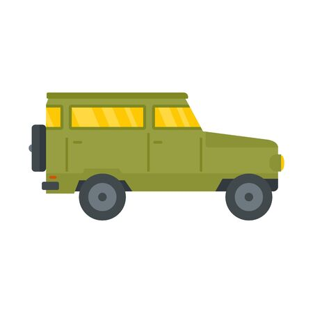 Hunting off road car icon. Flat illustration of hunting off road car vector icon for web design Ilustrace