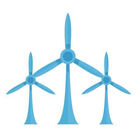 Eco wind turbine icon. Flat illustration of eco wind turbine vector icon for web design  イラスト・ベクター素材