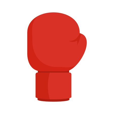 Boxing red glove icon, flat style