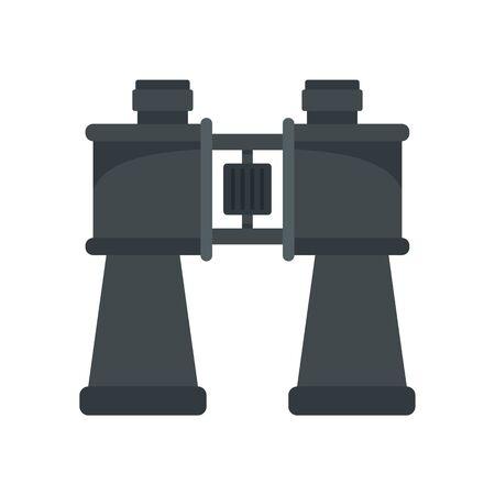 Binoculars icon. Flat illustration of binoculars vector icon for web design