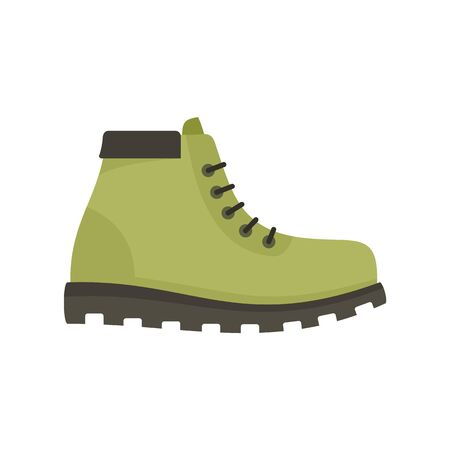 Hunter boot icon, flat style