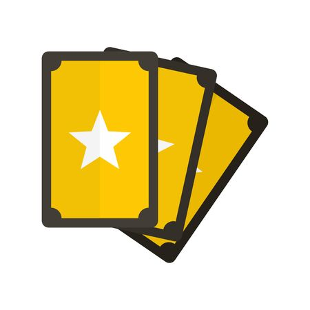 Magic fortune cards icon, flat style