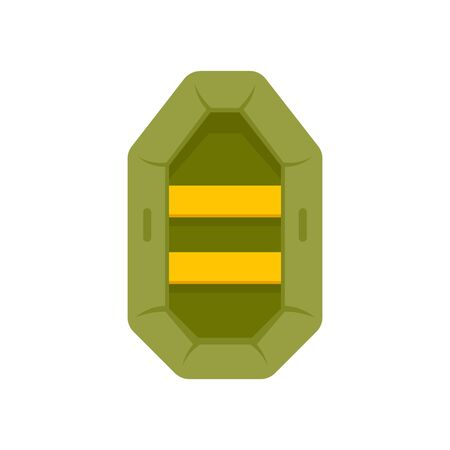 Hunting rubber boat icon. Flat illustration of hunting rubber boat vector icon for web design