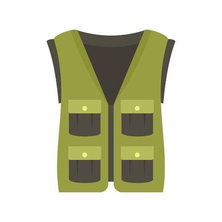 Hunter vest icon. Flat illustration of hunter vest vector icon for web design
