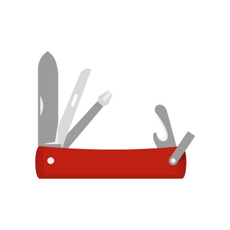 Penknife icon. Flat illustration of penknife vector icon for web design