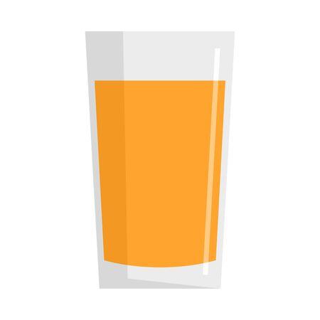Fresh carrot juice glass icon. Flat illustration of fresh carrot juice glass vector icon for web design 向量圖像