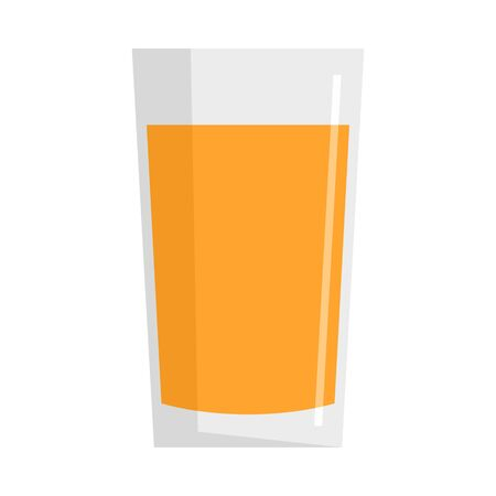 Fresh carrot juice glass icon. Flat illustration of fresh carrot juice glass vector icon for web design Illustration