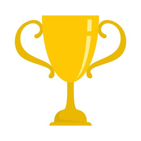 Sport gold cup icon. Flat illustration of sport gold cup vector icon for web design 向量圖像