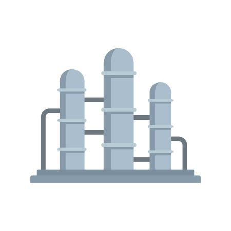 Oil refinery reserve icon, flat style