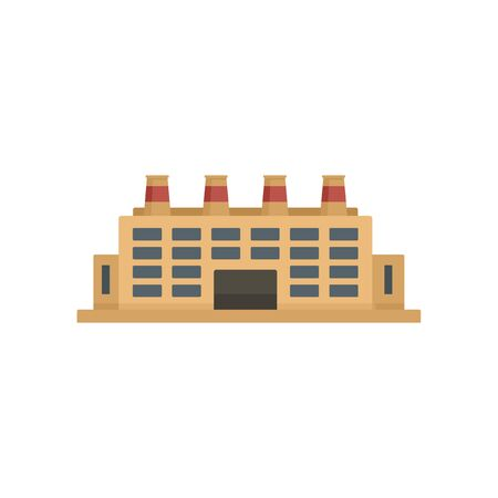 Energy refinery factory icon, flat style