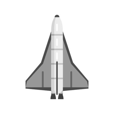 American spaceship icon, flat style Stock Illustratie