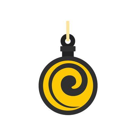 Hypnosis medallion icon, flat style Illustration