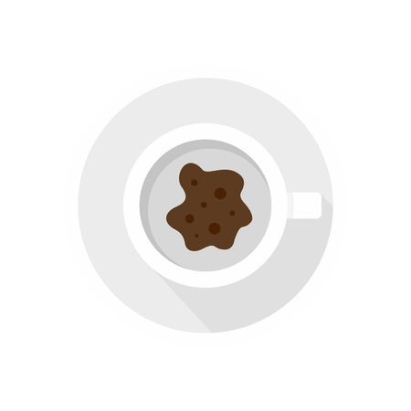 Future coffee teller icon. Flat illustration of future coffee teller vector icon for web design
