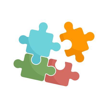 Ikona puzzle, płaski styl