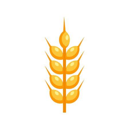 Wheat plant icon, flat style