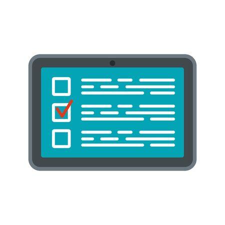 Online vote icon, flat style