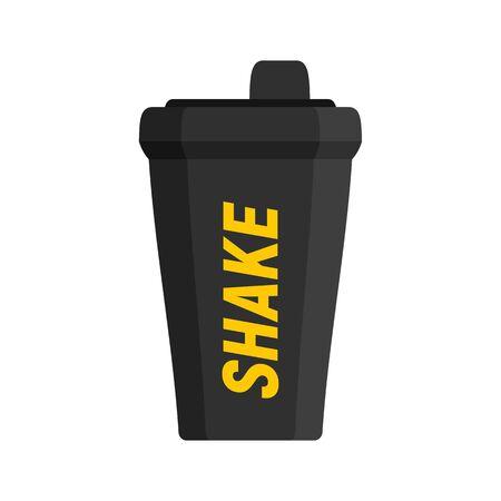 Shake bottle icon, flat style 向量圖像