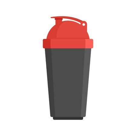 Plastic shaker bottle icon, flat style 向量圖像
