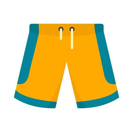 Basketball shorts icon, flat style  イラスト・ベクター素材
