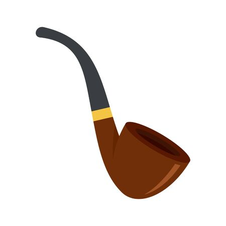Smoking pipe icon, flat style 일러스트