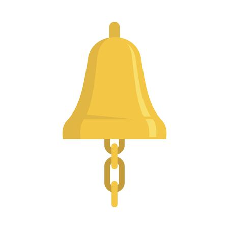 Sailor bell icon, flat style